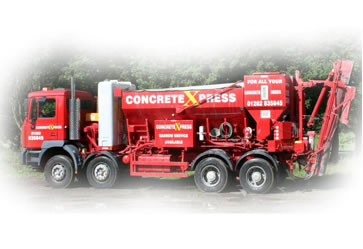 Mobile concrete vehicle